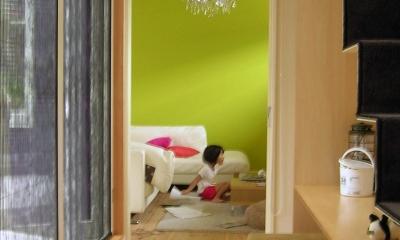 colors 色を重ねおいたいえ (階段のディテール2)
