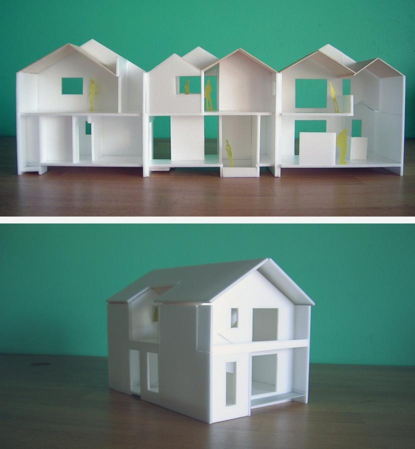 architype イエガタのいえの部屋 模型写真