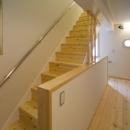 寝室からLDKへの階段