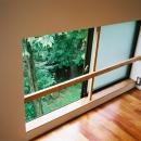 ソファ-横の窓