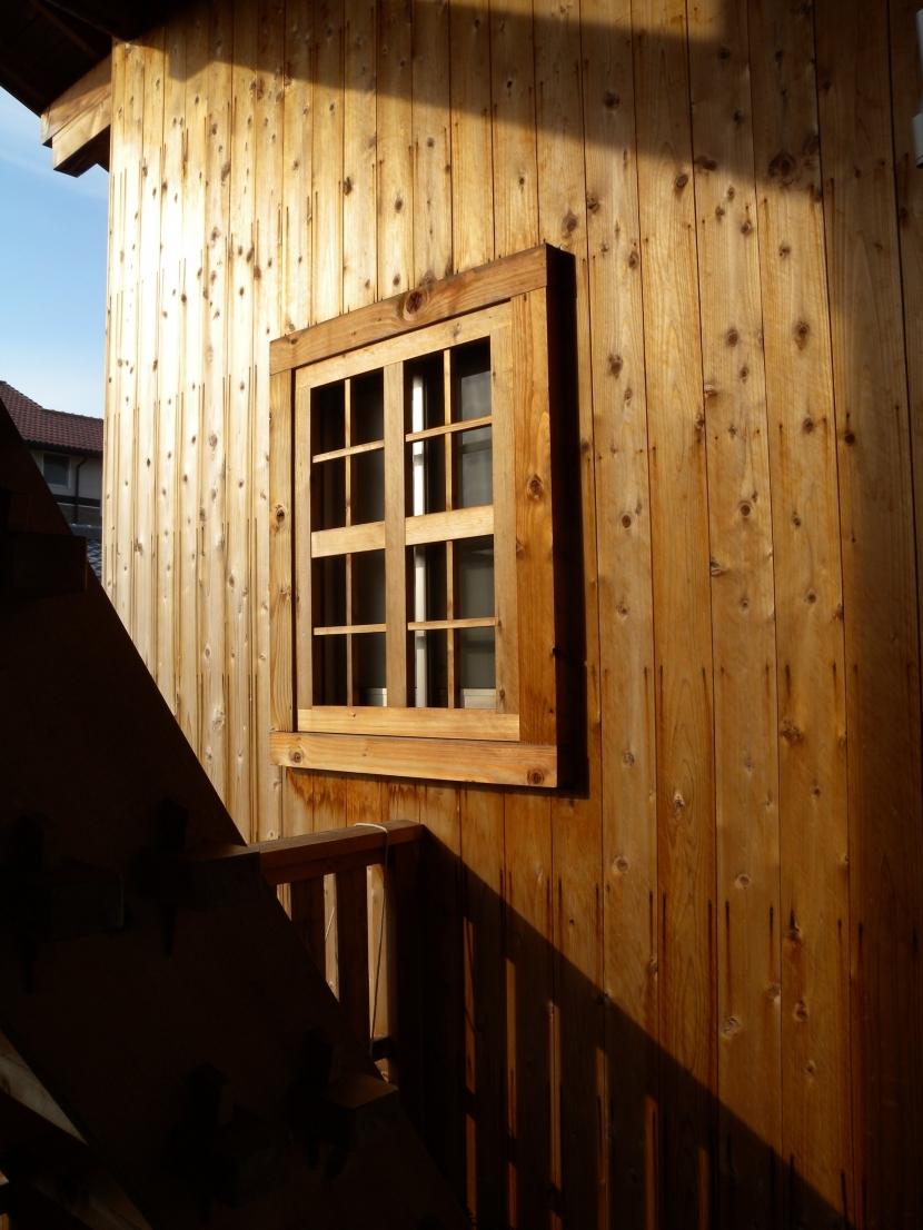 個人住宅 愛知県 2004の部屋 杉板張りのテラス