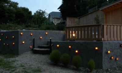 はなれ庭、夏の夕暮れ はなれ庭