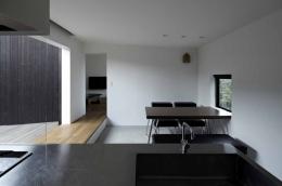 富士見ヶ丘の家 (オープンキッチンからの見通し)