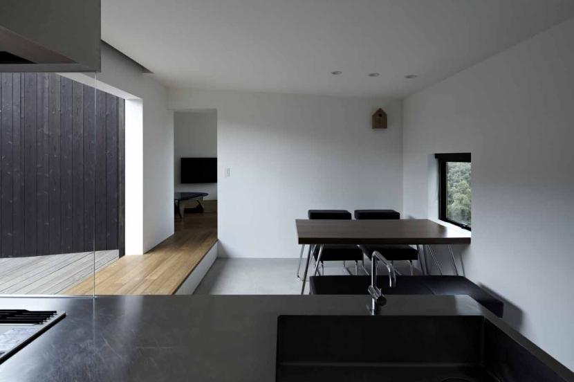 富士見ヶ丘の家の写真 オープンキッチンからの見通し