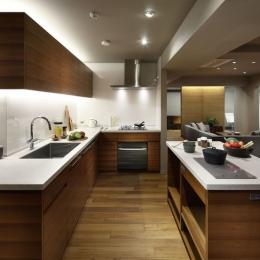 碑文谷・時層の家 (全長7mのキッチン)