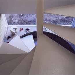 「4-コ ハウス」8坪の小さな家 (らせん階段)