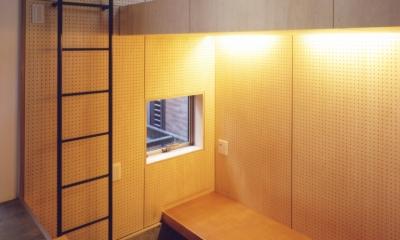 「4-コ ハウス」8坪の小さな家 (3畳の子供部屋)