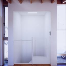 「4-コ ハウス」8坪の小さな家 (階段室)