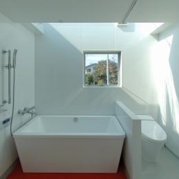 G邸・高台の家 (北側の明るいバスルーム)
