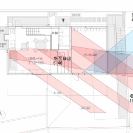 G邸・高台の家 (日照検討図)