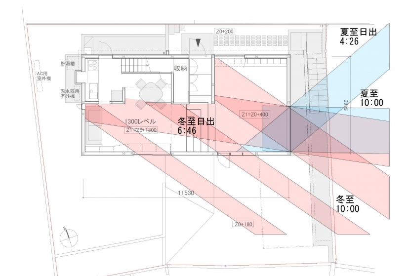G邸・高台の家の写真 日照検討図