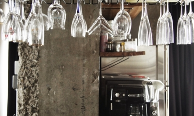 グラス収納|マンションリノベーション|名古屋市東区K邸