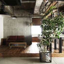 マンションリノベーション|名古屋市東区K邸 (LDK全景)