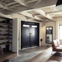 一戸建てリノベーション|名古屋市瑞穂区K邸の写真 1Fはエントランス&フリースペース