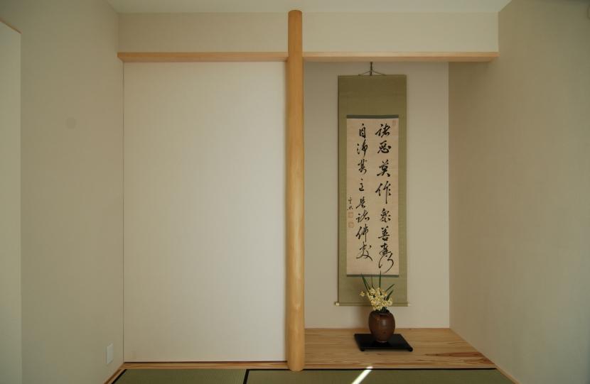いすみの家の写真 和室。床の間の横は壁に見えるが押入。