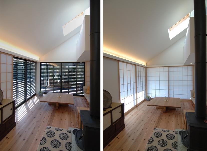 いすみの家の写真 リビング建具比較