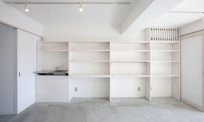 ドマ ト サンルーム -やわらかい間接光の広がる心地良い空間- (壁面造作家具)