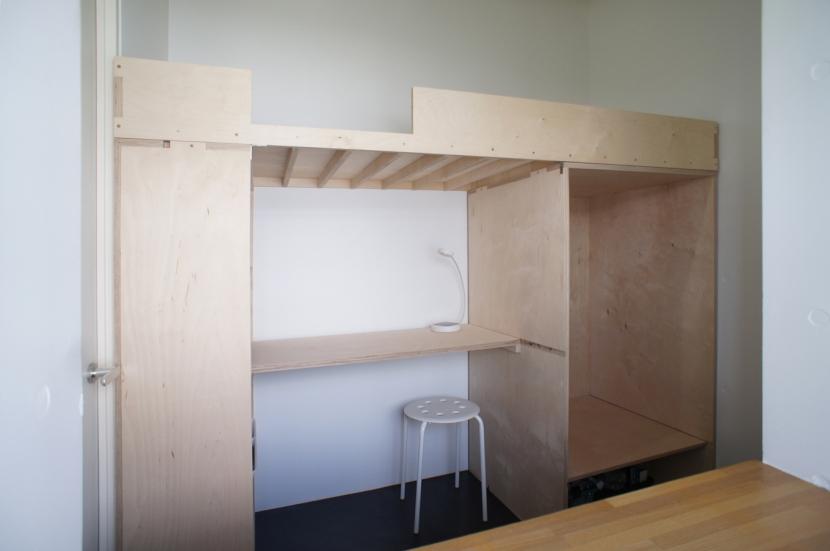 勾配天井の家の部屋 コロフト