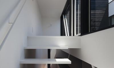 ハコノオウチ03 スモールオフィスのある家 (バルコニーへの階段)