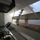 ハコノオウチ03 スモールオフィスのある家の写真 キッチンと背面カウンター