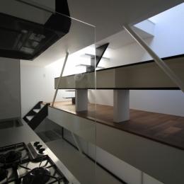 ハコノオウチ03 スモールオフィスのある家 (キッチンと背面カウンター)