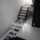 ハコノオウチ03 スモールオフィスのある家の写真 透明床