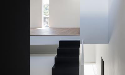 ハコノオウチ03 スモールオフィスのある家 (階段)
