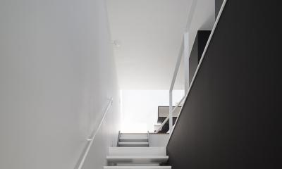 ハコノオウチ03 スモールオフィスのある家 (玄関から見上げ)