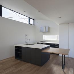 ハコノオウチ05 ルーフバルコニーのある二世帯住宅 (アイランド式のオーダーキッチン)