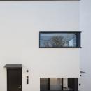 ハコノオウチ05 ルーフバルコニーのある二世帯住宅の写真 子世帯の玄関