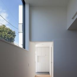 ハコノオウチ05 ルーフバルコニーのある二世帯住宅 (親世帯玄関)