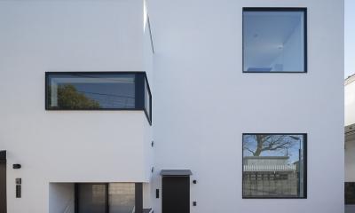 ハコノオウチ05 ルーフバルコニーのある二世帯住宅 (外観)