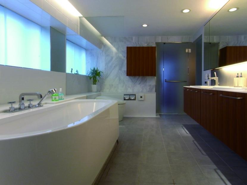 ダブルリビングのある家の部屋 浴室・風呂