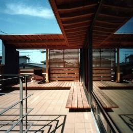 【杉並の家】 木の軸組、縁側空間。日本の住文化を立体展開
