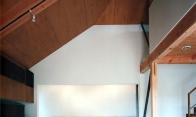 【杉並の家】 木の軸組、縁側空間。日本の住文化を立体展開 (リビング)