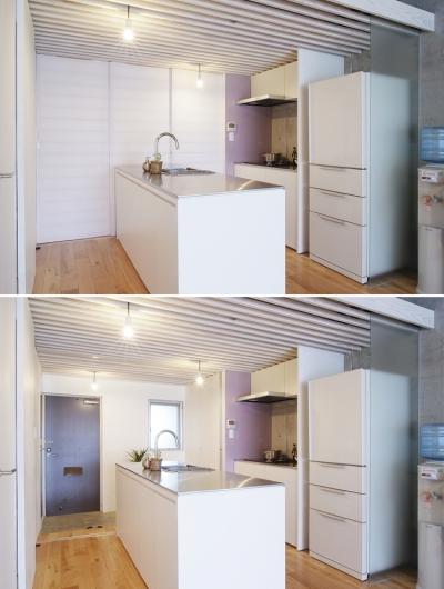 キッチン (やりたいことは全部やってコストは抑える、身の丈リノベーション(中浦和のリノベーション))