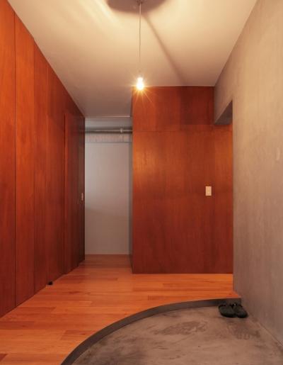 家族の成長とともに変化できる自由な家(武蔵浦和のリノベーション) (玄関)