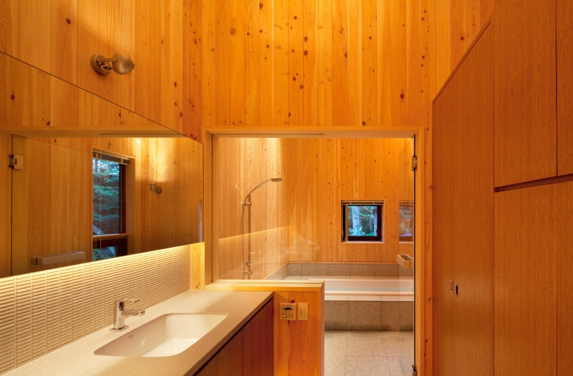 N山荘の部屋 浴室