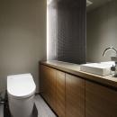 碑文谷・時層の家の写真 飾れるトイレ