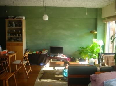 リビング・ダイニング (Green Wall)