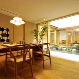 「光の家、集える庭。@現代京町家」-ダイニング