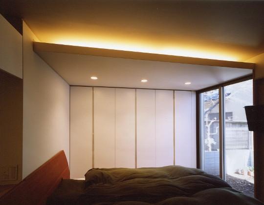 菱形の家の写真 寝室