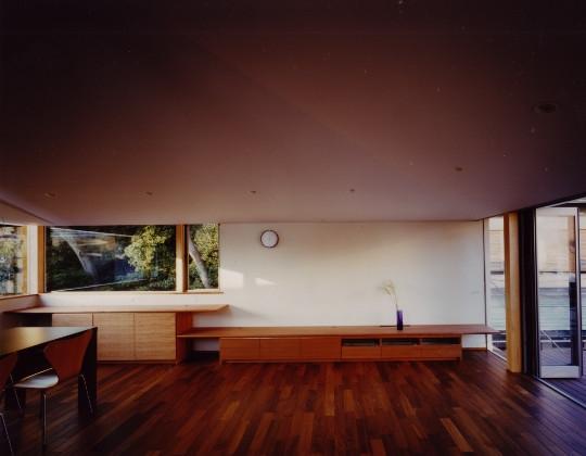 森を望む家の写真 リビングダイニング
