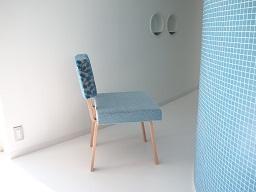 ソファチェアーの部屋 ブルー(横向き)