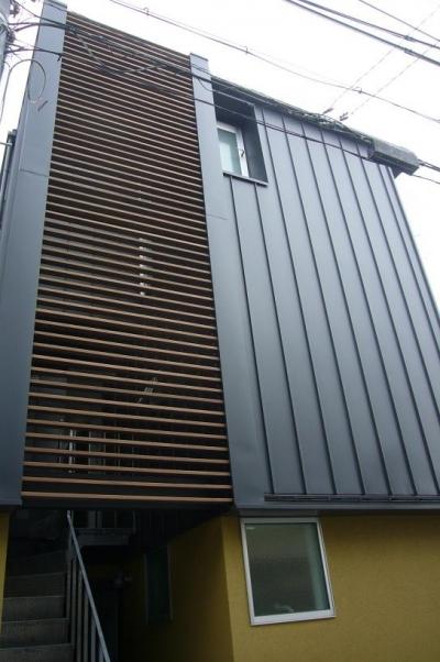 木造三階建て二世帯住宅 (外観)