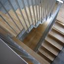 ギャラリーのある二世帯住宅の写真 階段