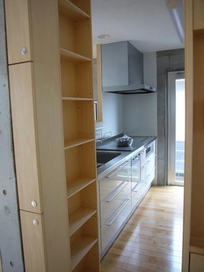ギャラリーのある二世帯住宅 (キッチン)