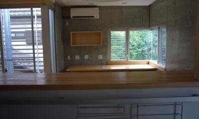 キッチン|ギャラリーのある二世帯住宅