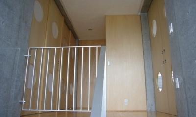 ギャラリーのある二世帯住宅 (ホール・階段)