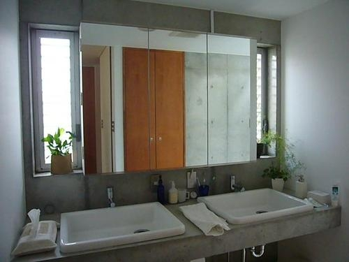中庭と坪庭のある家の写真 洗面脱衣室